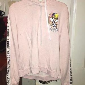 Pink space jam hoodie